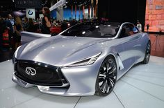 INFINITI Q80 INSPIRATION Its good looks caught our eye, and the 550 horsepower from its hybrid powertrain held our attention. While the car is just a concept for now, Infiniti says the model previews a future full-size car.
