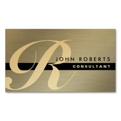 Gold Monogram Professional Elegant Modern Silver Business Cards. I love this design! It is available for customization or ready to buy as is. All you need is to add your business info to this template then place the order. It will ship within 24 hours. Just click the image to make your own!