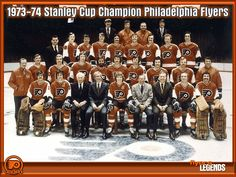 Flyers 1973-74 Stanley Cup champions Flyers Hockey, Hockey Games, Ice Hockey, Flyers Stanley Cup, Stanley Cup Champions, Visit Philadelphia, Philadelphia Sports, Hockey Quotes, Good Old Times
