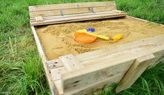 DIY : fabriquez un bac à sable pour vos enfants. Tuto réalisé par : Talalilala.com