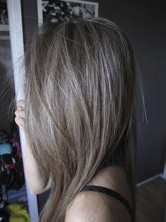 60% fine beige highlights on ash brown base