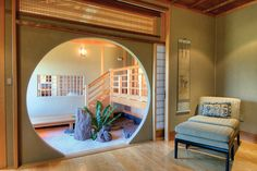 A traditional Japanese rock garden with moon gate from the master bedroom.  Historic Japan on San Francisco Bay—WSJ House of the Day - WSJ.com