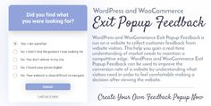 Download CodeCanyon  WordPress and WooCommerce Exit Popup Feedback v1.0 Free