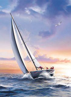 Heute wäre genau das richtige Wetter dafür: Segelboot
