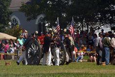 Americans preparing for battle