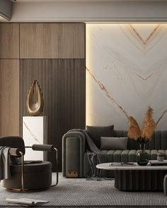 Wall Cladding Interior, Cladding Design, Interior Exterior, Luxury Interior, Home Interior Design, Living Room Wall Designs, Living Room Interior, Marble Bedroom, Modern Classic Interior