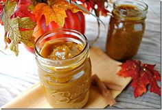 Pumpkin Butter.  My son is obsessed with pumpkin butter, so I will definitely try this.