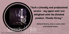 Richard Morris @mozpar was chosen to voice a Vodafone commercial on the strength of his #voicereel! Here's what he says about working with me.