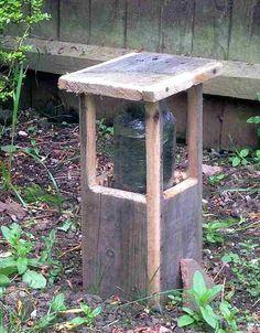 pallet wood garden lamp