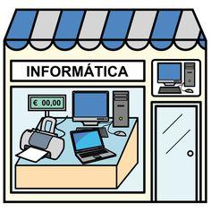 Pictogramas ARASAAC - Tienda de informática. Paper Doll House, Paper Dolls, Community Places, House Quilts, Montessori Materials, Pretend Play, Craft, Spanish, Clip Art