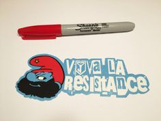 This listing is for one high quality vinyl Ingress Viva La Resistance sticker, for your laptop, cellphone, battery, car, truck, minivan, mirror, window, binder, cat, dog, or whatever needs stickering.  Each sticker is approximately 2 x 5.25 inches, and in stunning full color as seen in the photograph.  These vinyl stickers are long lasting, color-fast, weather durable, look great on a variety of surfaces, and are easy to remove. This is a custom sticker, is cut out by hand, and not a printed…