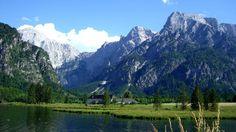 Alpine valley, Upper Austria Almsee bei Grünau, Oberösterreich.