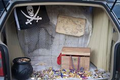 "Neverland trunk or treat? Great idea! ""Get in the trunk, kids! There's candy and fun stuff in here!"""