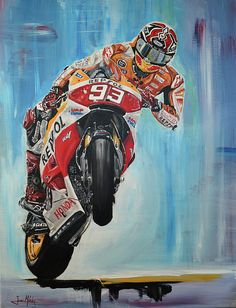 Marc attack by Juan Mendez Marc Marquez, Speed King, Bike Tattoos, Bike Pic, Honda Cbr 600, Speed Art, Racing Motorcycles, Gaming Wallpapers, Valentino Rossi