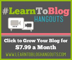 Learn to Blog - #LearntoBlog Hangouts  Wow...this is an amazing resource for growing your blog and increasing your social media understanding