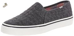 Keds Women's Double Decker Quilted Jersey Fashion Sneaker, Charcoal, 9.5 M US - Keds sneakers for women (*Amazon Partner-Link)