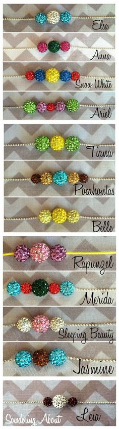 Disney inspired princess necklaces-awesome