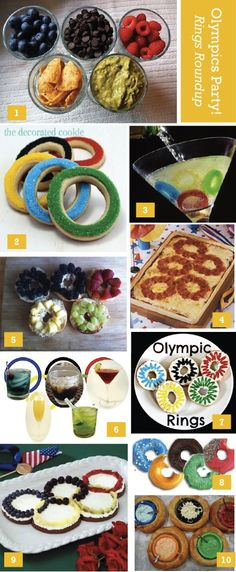 Olympic Rings Roundup - party inspiration