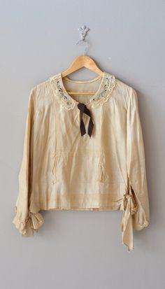 silk 1920s blouse | Vera Violetta silk blouse