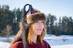 A historically inspired Mongolian hat/helmet. Very pleasant to wear, warm (however suitable for relatively warm weather too) and practical. Horse tail adds some charm to it. :) Suits men as well as women - unisex model. Perfectly suits for many occasions such as historical or fantasy