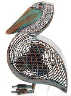 pelican shaped decorative fan
