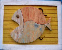 pesci con legno di recupero nanda 85x66 - € 160
