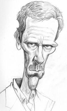 El genial Tom Richmond nos deja este sketch del Dr. House http://www.caricaturasfamosos.com/2014/06/doctor-house-caricaturas-de-television.html