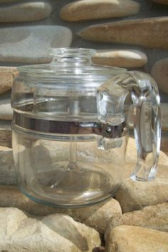 a vintage pyrex stove top percolator is super high on my wish list right now- so much more space efficient!