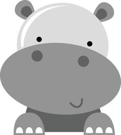 SVG_zoo animals - My best shares Cute Hippo, Baby Hippo, Jungle Animals, Baby Animals, Hippo Crafts, Silhouette Online Store, Safari Theme, Baby Art, Applique Patterns