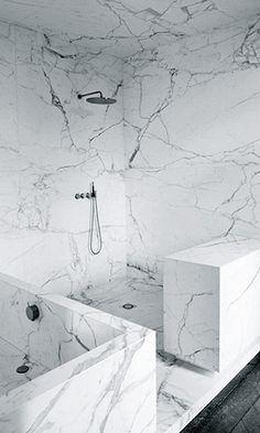 Marble | modern bathroom inspiration by COCOON | minimalist bathroom design products by COCOON | sturdy stainless steel bathroom taps | bathroom design & renovation | villa & hotel design projects | Dutch Designer Brand COCOON | Joseph Dirand