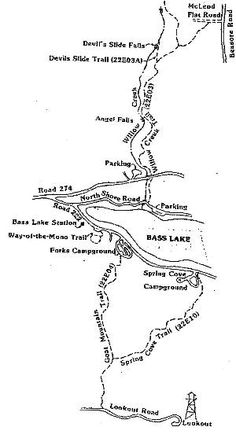 Trails at Bass Lake, CA - motion favorite