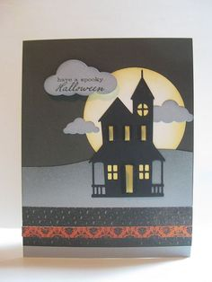 Memory Box Die Tutorials | colorwhimsy: Haunted House
