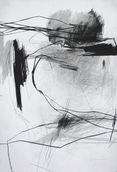 Série Approches, pierre noire sur papier, 110 x 75 cm, 2011 Laurence Garnesson