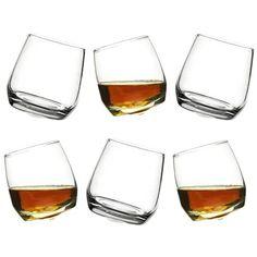 Sagaform-Set Of 6 Rocking Whiskey Glasses Whisky, Irish Design, Drinks Cabinet, Whiskey Glasses, 6 Pack, Traditional Design, Timeless Design, Wine Glass, Scandinavian