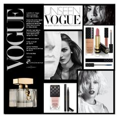"""Vogue & Gucci Beauty"" by frenchfriesblackmg ❤ liked on Polyvore featuring beauty and Gucci"