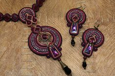 Soutache Necklace and Earrings | Flickr - Photo Sharing!