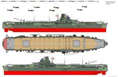 Junyo-class Aircraft Carrier (1944) by ijnfleetadmiral.deviantart.com on…