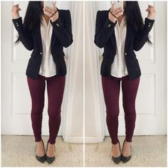 clothes jacket blouse top style shirt black military style shoes sea of shoes burgundy tights pants leggings streetstyle streetwear workout shoes outfit fashion pointed toe heels fall sweater fall outfits jeans