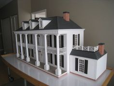 Rosedawn Plantation highly detailed 1/12 scale doll's house #LawbreCompany #Georgian