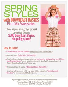 DownEast Spring Style Pin Pinterest Contest! | SALT