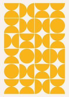 Green Orange White Retro Geometric Circle Wallpaper Textured Vinyl Luxury P+S