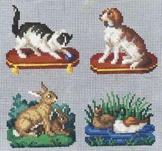 Berlin WoolWork Patterns ~ Cat Dog Rabbits & Ducks: