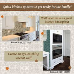 Updating your kitchen for the holidays? Check out some great kitchen wallpaper ideas.
