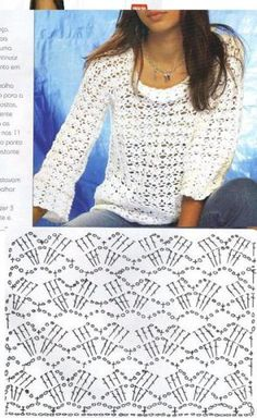 Bluz - Eda Sayan -       ♪ ♪ ... #inspiration_crochet #diy GB