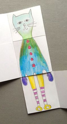 Exquisite corpse drawing book for kids - Crafts for kids!