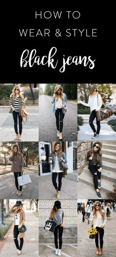 Outfit jeans What to wear with black jeans - Black Jeans Outfit Ideas what to wear with black jeans, how to wear black jeans, black jeans outfit ideas, outfits with black jeans Outfit Jeans, Black Jeans Outfit Winter, Outfits With Black Jeans, Black Pants Outfit, Black Jeans Summer, Black High Waisted Jeans Outfit, Cute Jean Outfits, Casual Jeans Outfit Summer, Dress Black