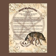 WOLF MYTHOLOGY, Digital Download,  Book of Shadows Page, Grimoire, Scrapbook, White Magick, Wiccan, Witchcraft, by MorganaMagickSpell on Etsy