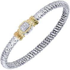 Sterling silver and 14 karat yellow gold Diamond bangle bracelet Bangle Bracelets, Bangles, Diamond Bangle, Rose Cut Diamond, Custom Design, Fine Jewelry, Glitter, Engagement Rings, Sterling Silver
