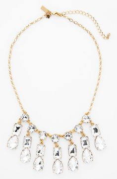 Adding this sparkly Kate Spade crystal necklace to the jewelry box.