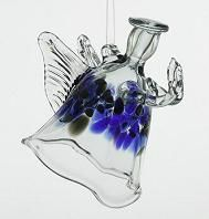 Hand-blown glass angel ornament